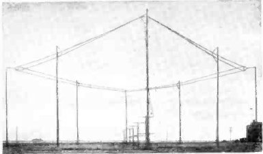 AT&T 2 wire rhombic in Dixon, California, in 1937, used for telephone service to Shanghai, China