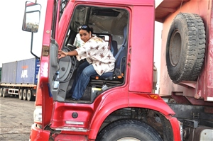 A truck operator at Al Gamil, the largest construction company in Djibouti. Algamildj.jpeg