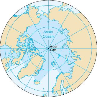 Arctic Ocean: (bordering) Russia