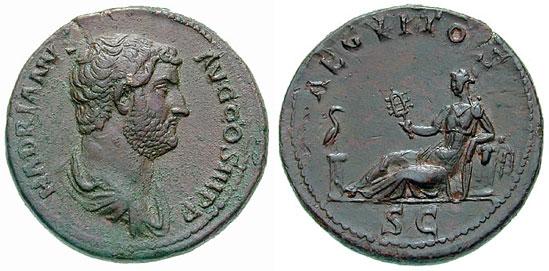 ローマ時代の皇帝領エジプトで用いられたコイン