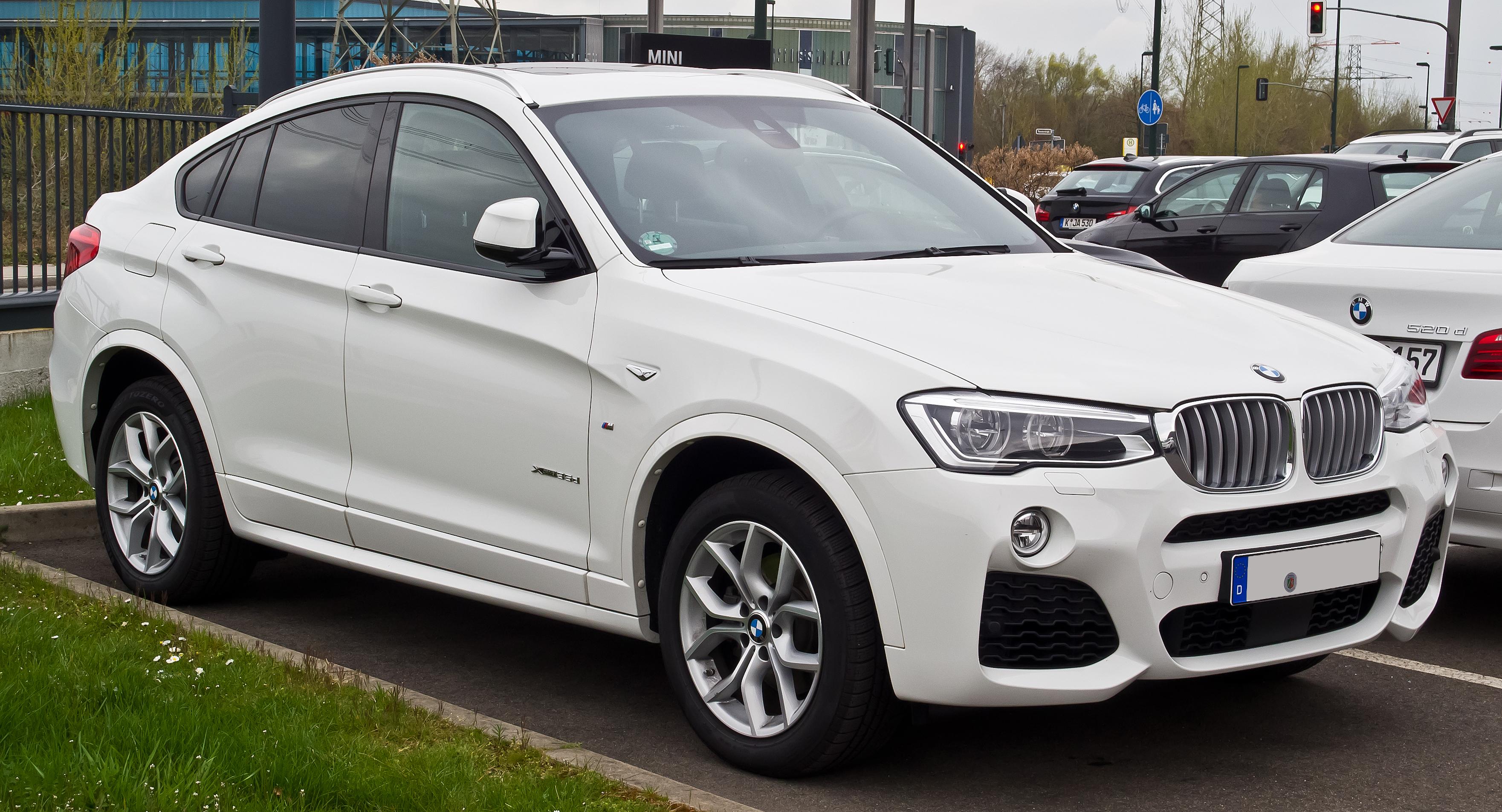 Bmw X4 Wiki >> File:BMW X4 xDrive35d M-Sportpaket (F26) – Frontansicht, 11. April 2015, Düsseldorf.jpg ...