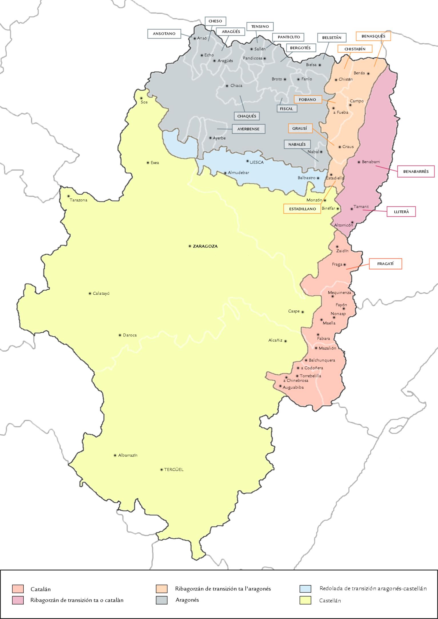 Language Map Of Spain.Aragonese Language Wikipedia
