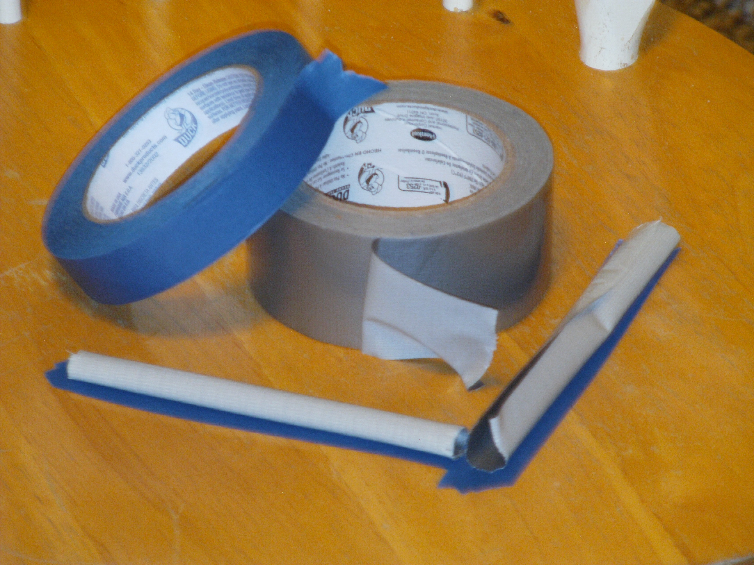 File:Bed Bug Barrier Curled Duct Tape Over Masking Tape.JPG