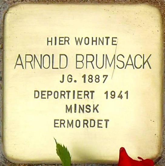 Stolperstein Poststraße 16 Brumsack Arnold