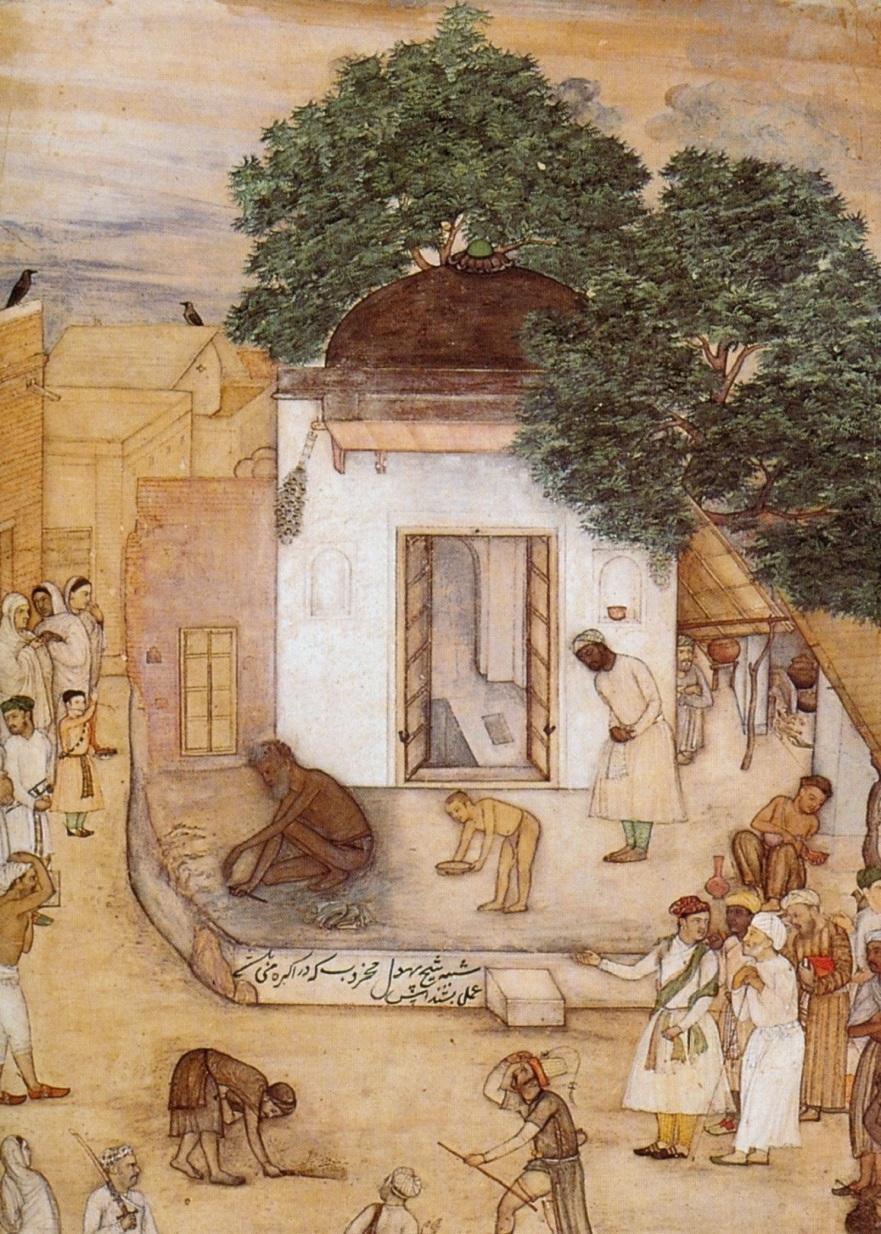 file bishan das shaikh phul in his hermitage ca 1610 bharat kala
