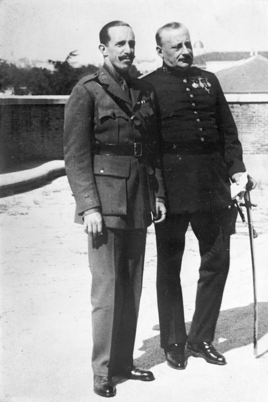 Alfonso XIII y Primo de Rivera en 1930.