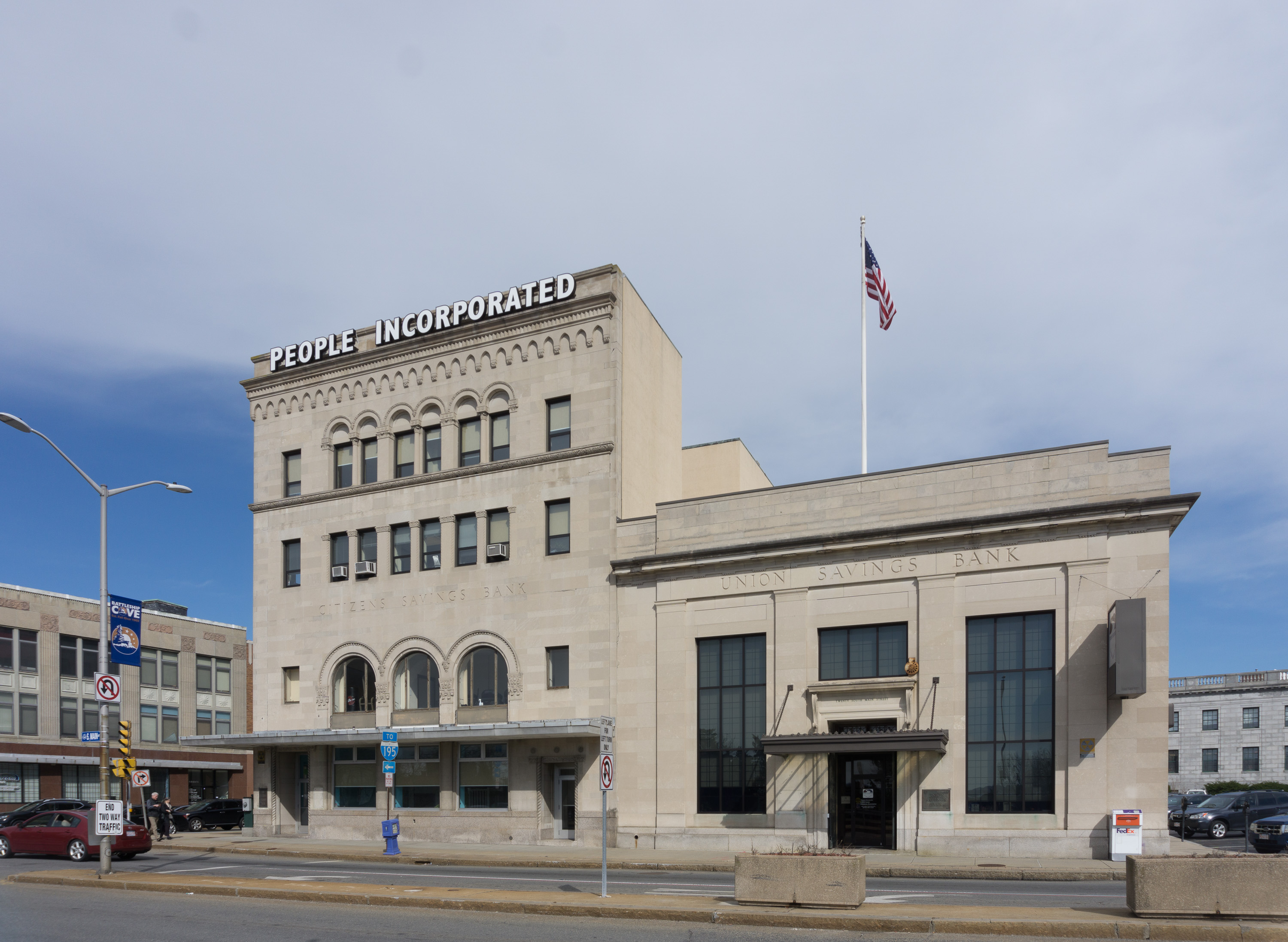 File:Citizens Savings Bank - Union Savings Bank Fall River