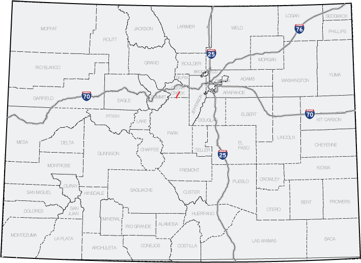 Colorado State Highway Wikipedia - Colorado state road map