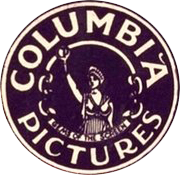 The first print logo used by Columbia Pictures, featuring its Columbia personification