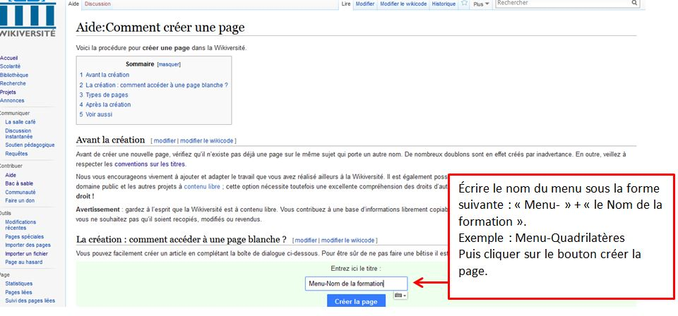 Fichier Creation De La Page Menu Mooc Jpg Wikipedia