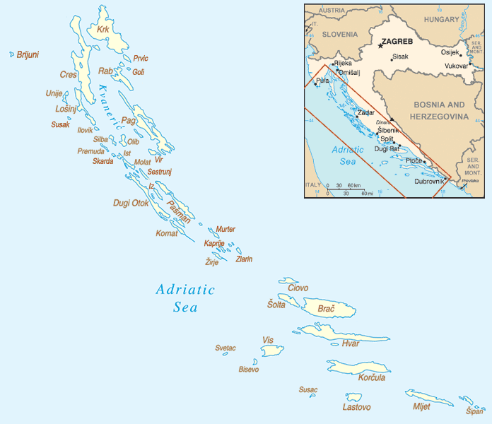List of islands of Croatia  Wikipedia