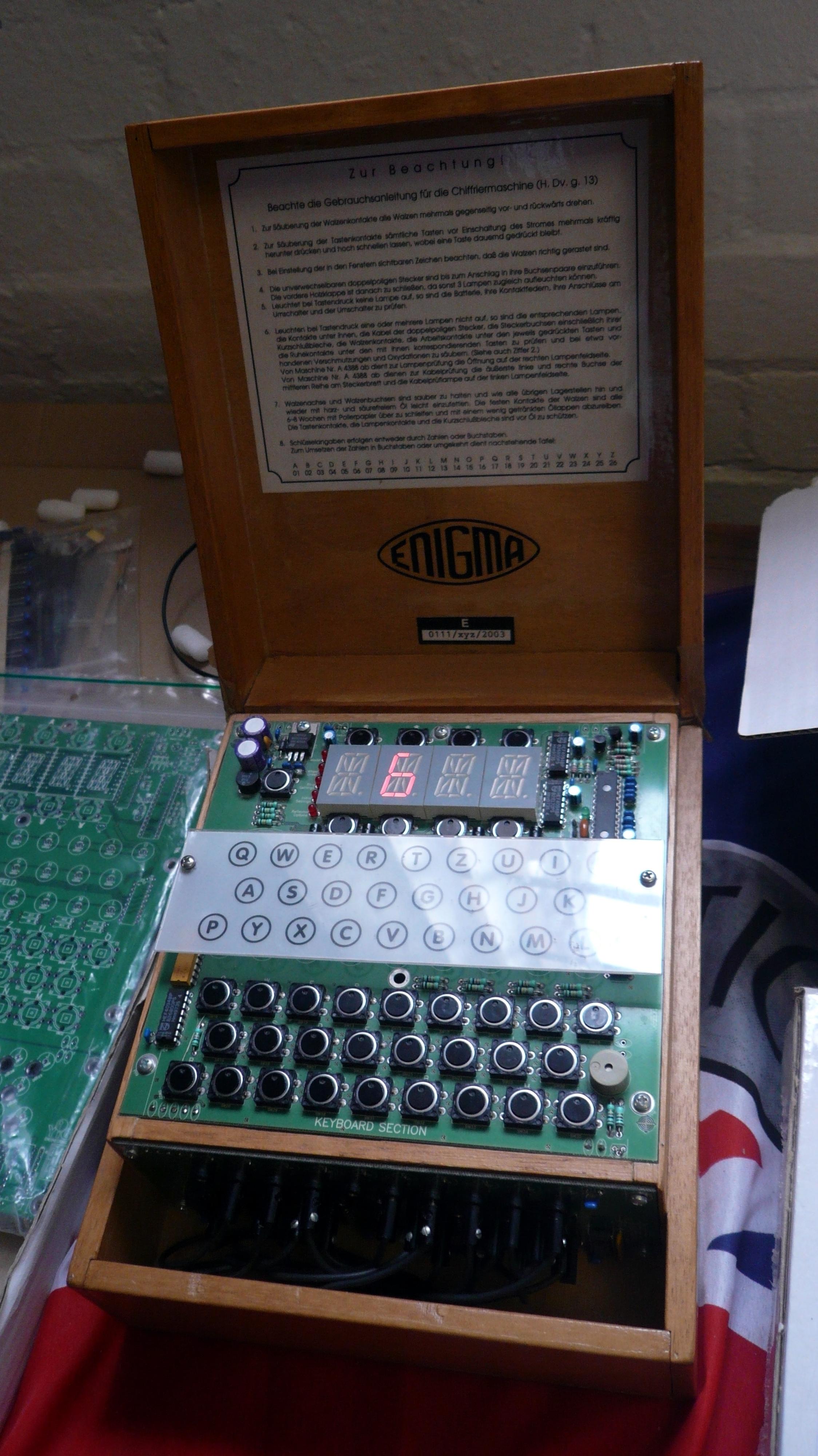 ParkBletchleyUK jpg DIY machineBletchley File Enigma odxerCB