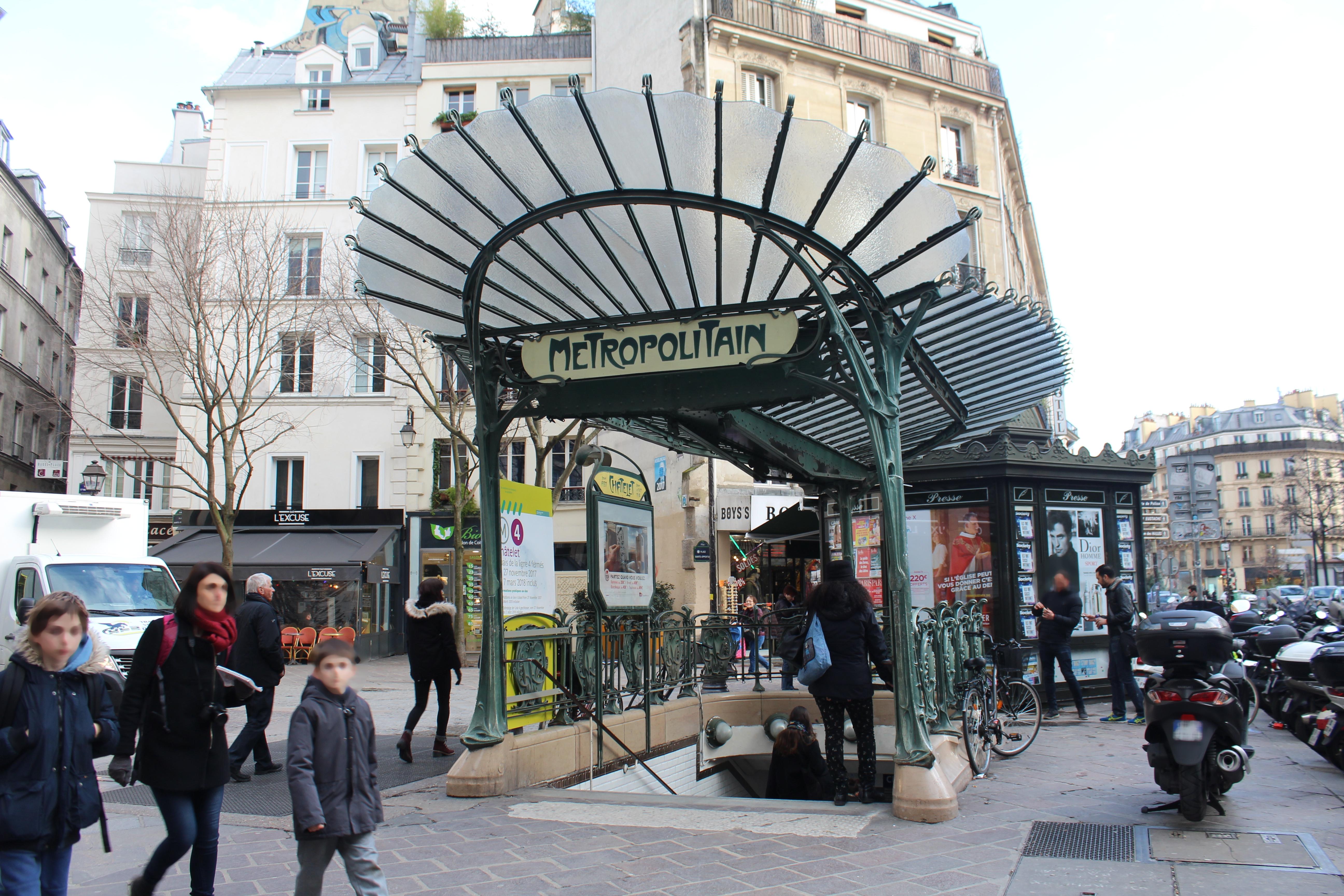 Châtelet Paris Métro Wikipedia