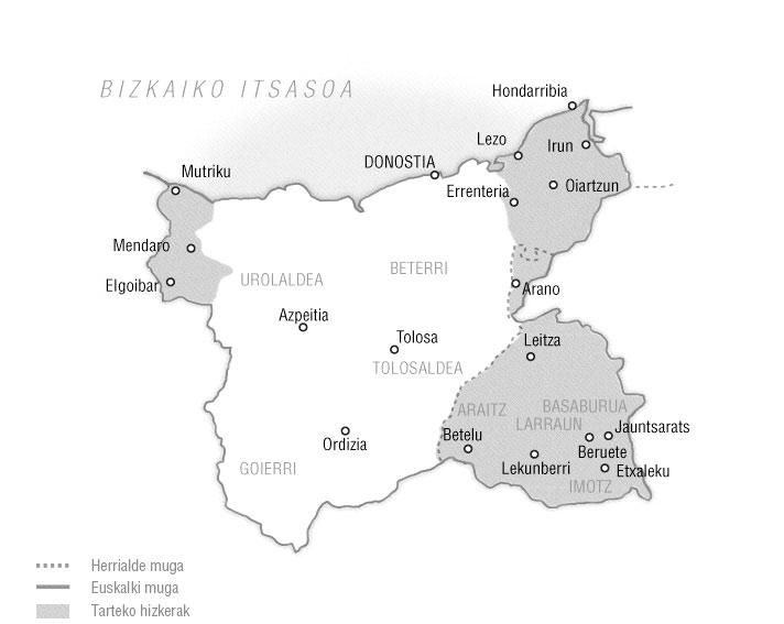Erdialdeko euskararen mapa