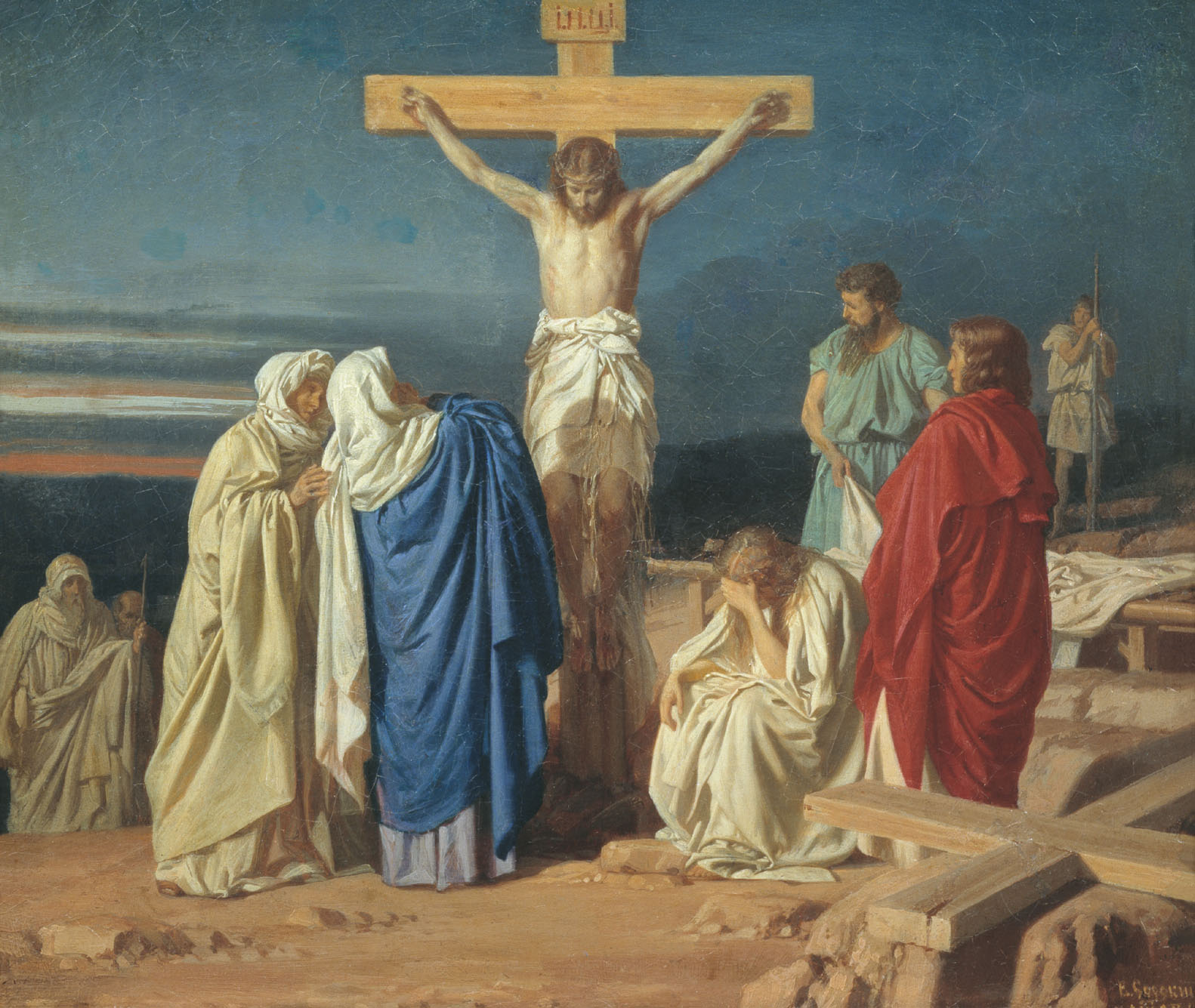 Description Evgraf Semenovich Sorokin   Crucifixion