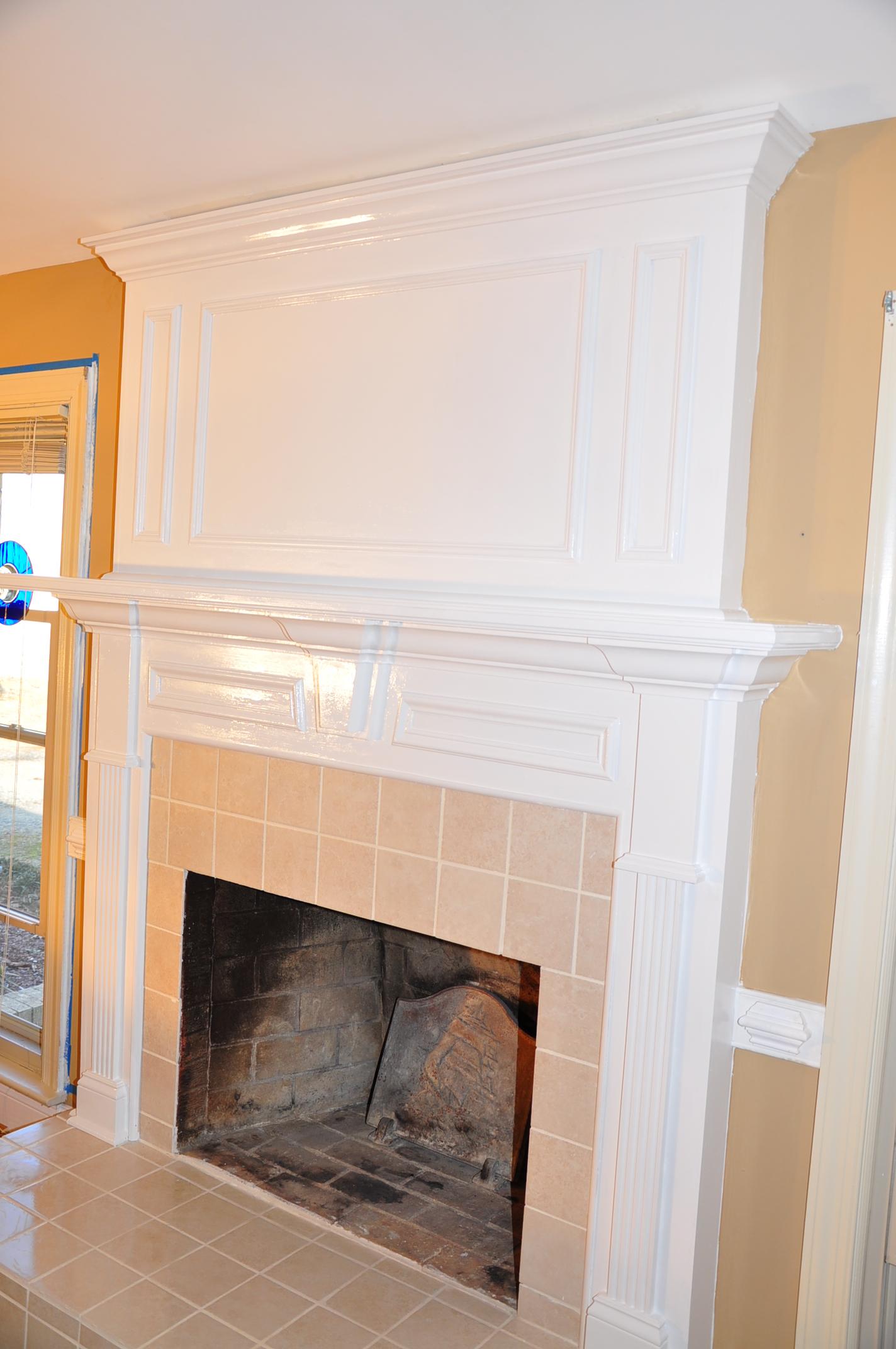 White Painted Mantel Elegant Room