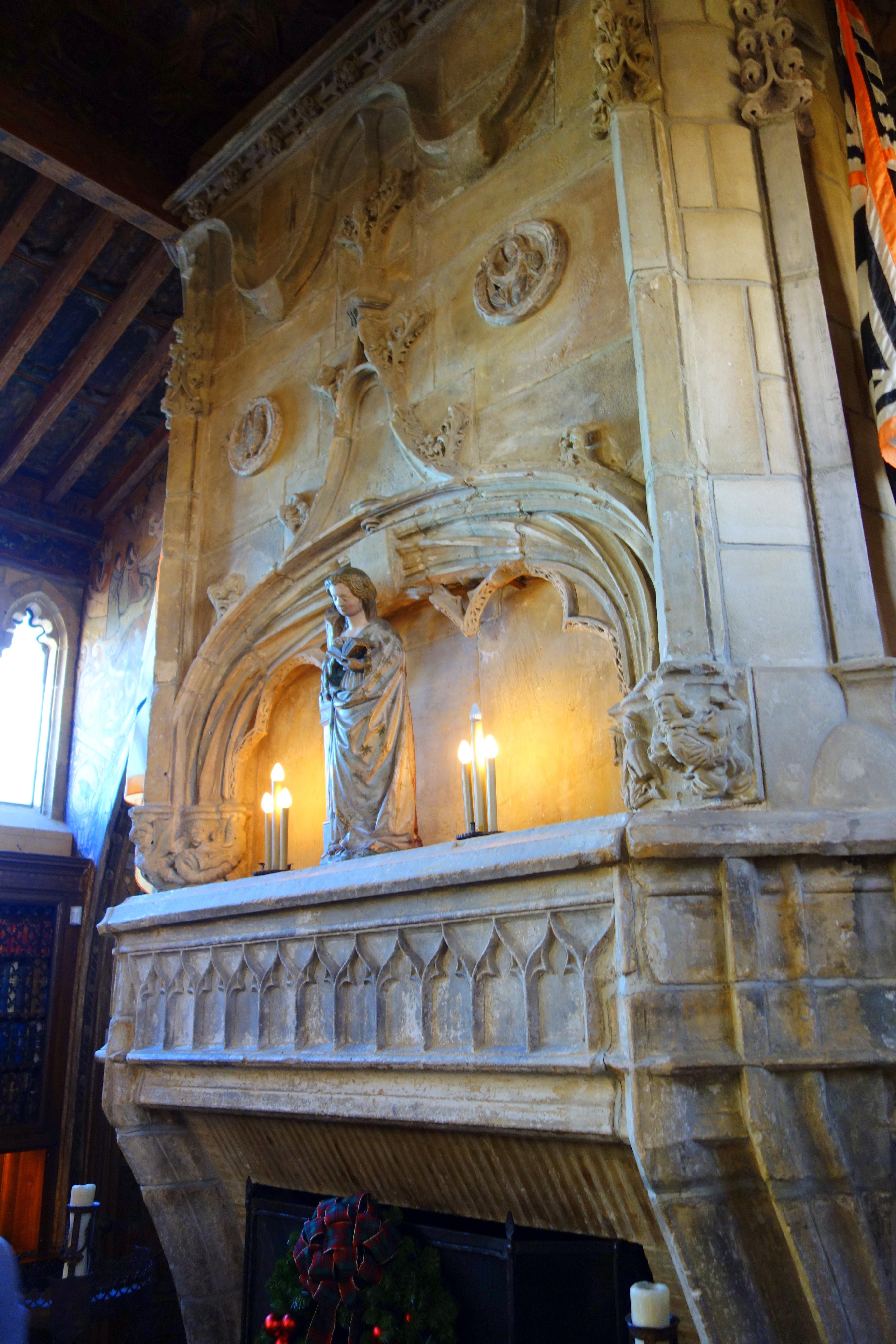 File:Fireplace in Gothic Study - Hearst Castle - DSC06927.JPG ...