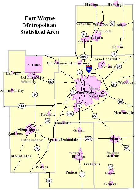 FileFort Wayne Indiana Metro MapPNG Wikimedia Commons - Indiana political map