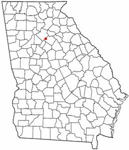 Location of Loganville, Georgia
