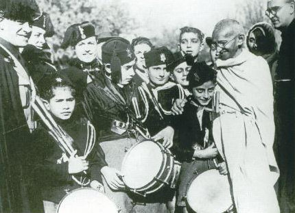 Gandhi in Rome (c) Wikimedia Commons