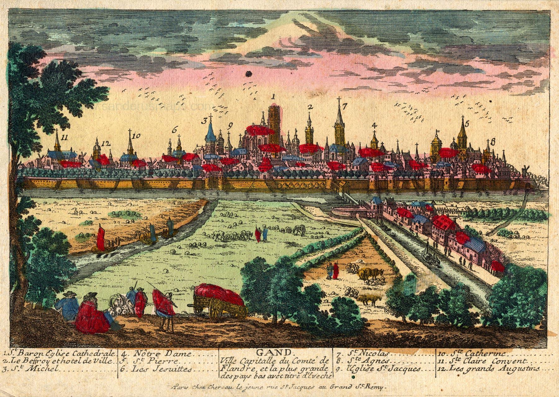 File:Ghent, Belgium, Chéreau , c. 1720..jpg