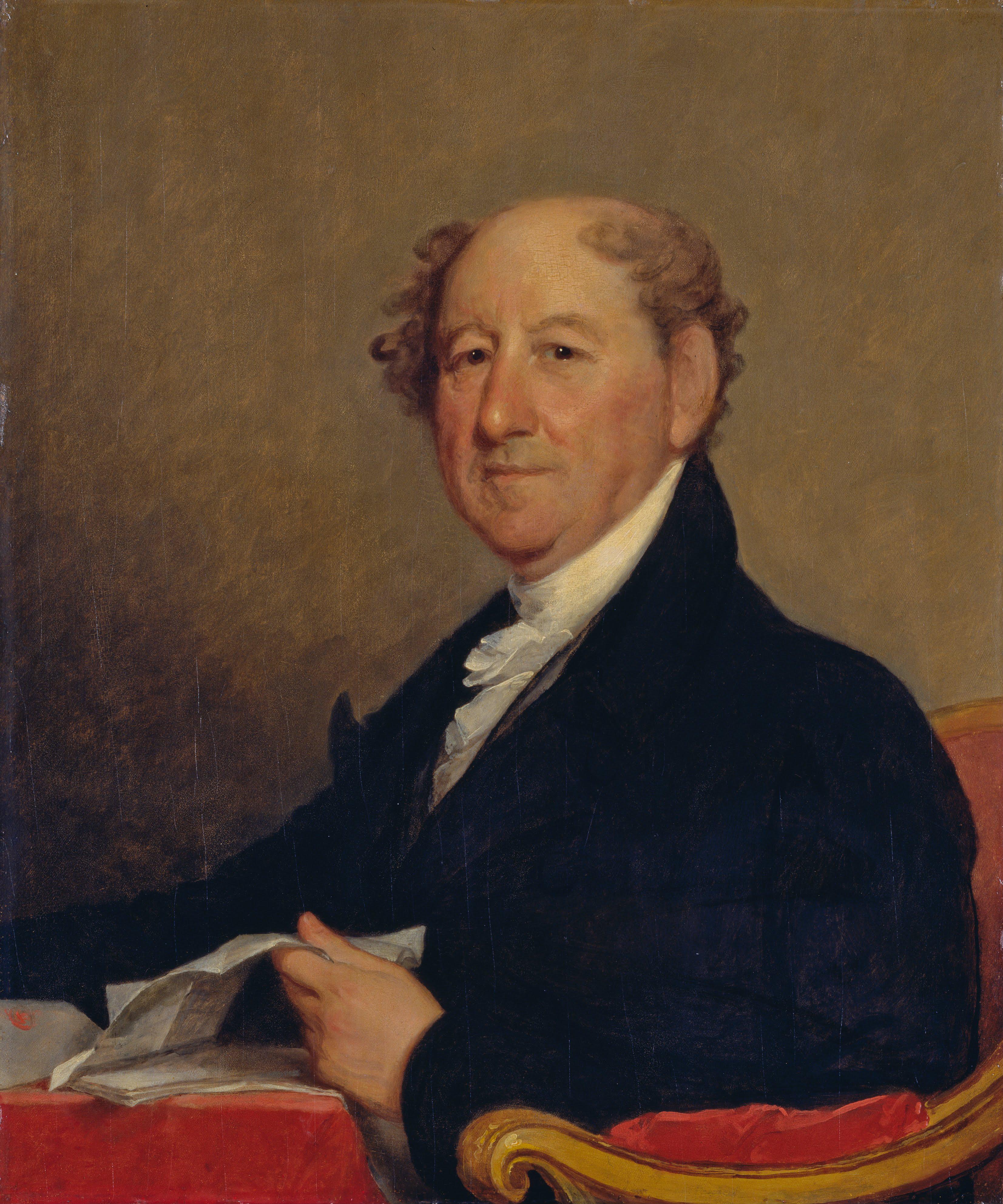 Portrait by [[Gilbert Stuart]], c. 1820
