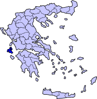 Location of Kefalonia Prefecture in Greece