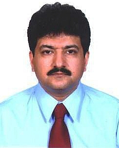 English: Hamid Mir, a Pakistani journalist