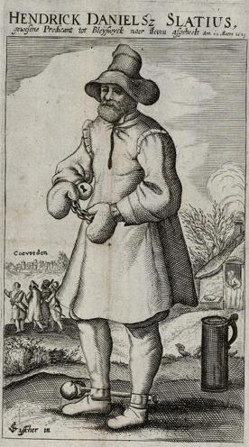 Hendrick Danielsz Slatius door Claes Jansz Visscher