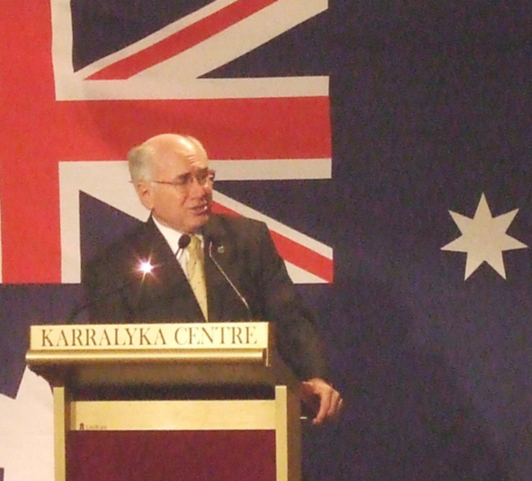 John Howard, 31 August, 2007