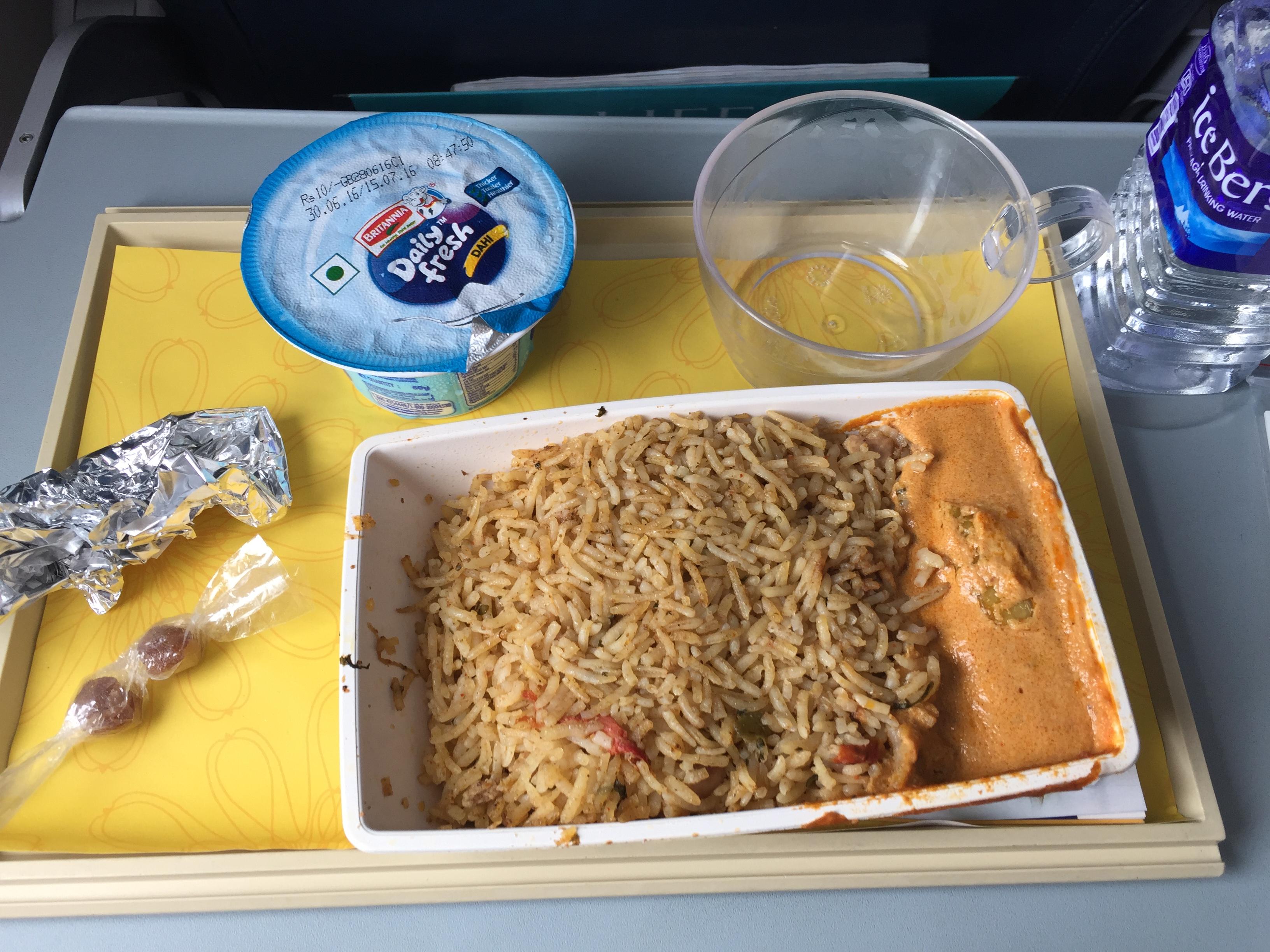 Jet Airways Food Menu