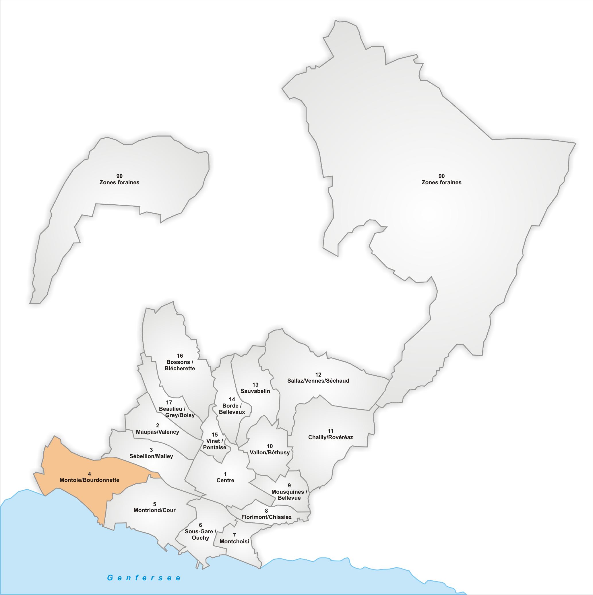 Lage des Stadtteils Montoie/Bourdonnette