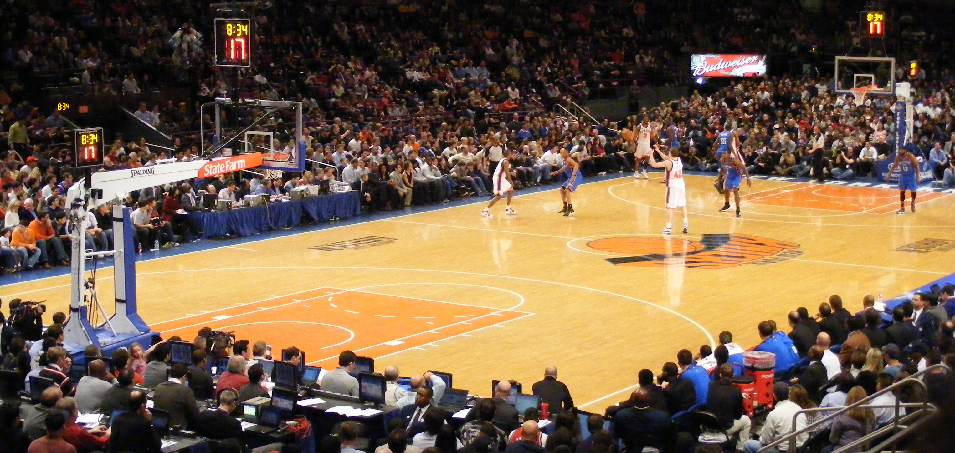 MSG Networks is tumbling  Matt Pirecki, Knicks v Thunder 2010 MSG, CC BY 2.0