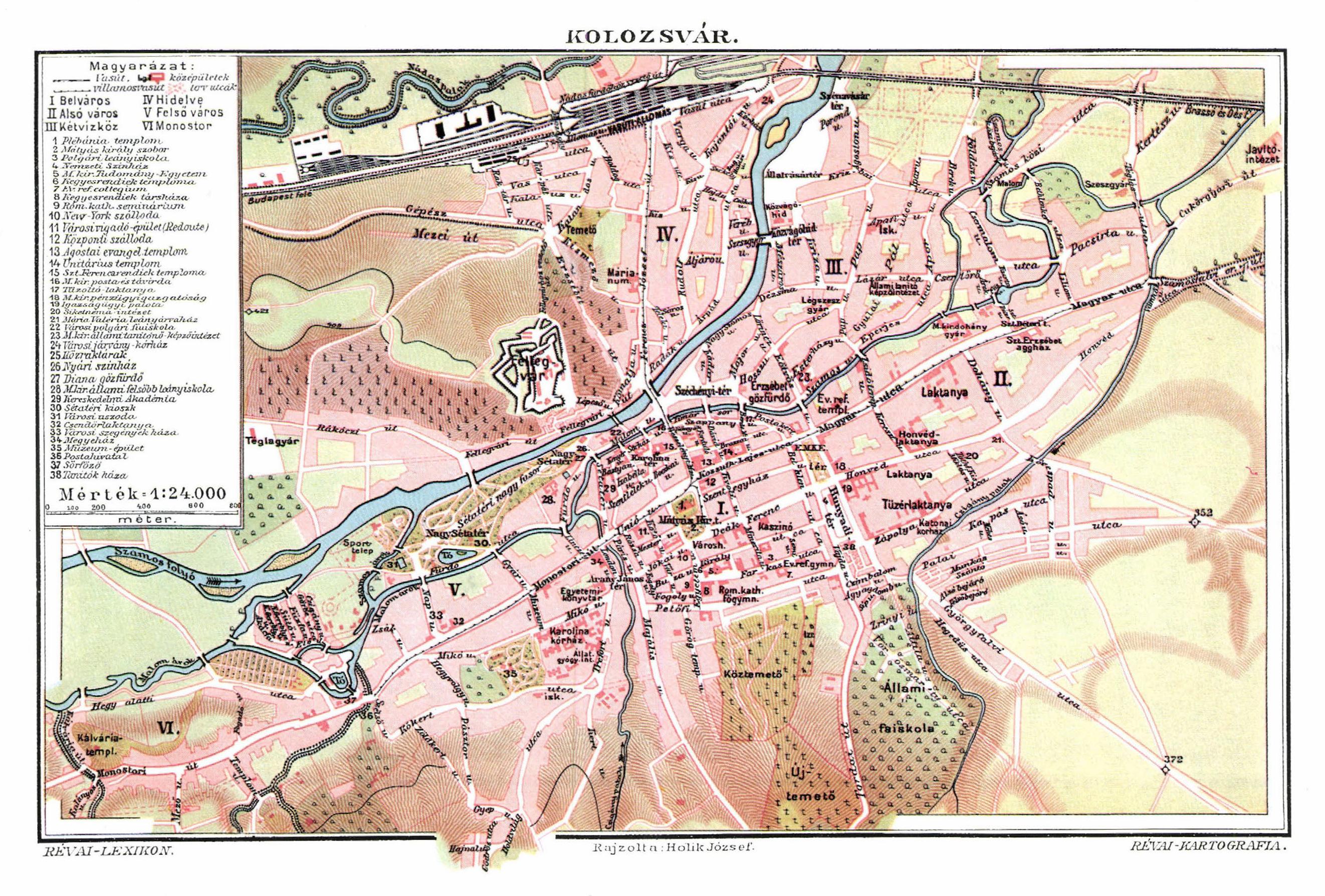 File Kolozsvar Varos Terkepe Trianon Elott Jpg Wikimedia Commons