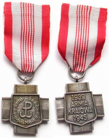 Home Army Cross, awarded to Home Army veterans by the Polish Government-in-Exile Krzyz AK 64081946chl.jpg