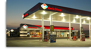 Kwik Shop American convenience store and gas station chain