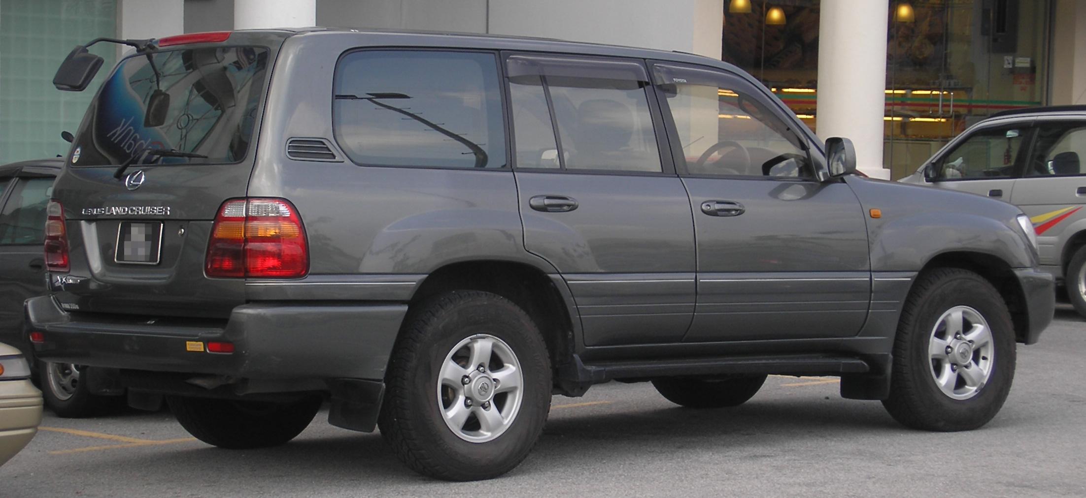 Toyota Land Cruiser Wiki >> File:Lexus LX (second generation) (470, Land Cruiser) (rear), Serdang.jpg - Wikimedia Commons