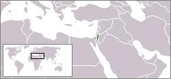 Poloha Palestiny ve světě