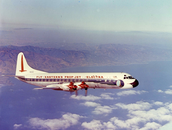 Lockheed L-188A Electra, Eastern Air Lines, in flight