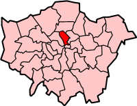 Islington London, map