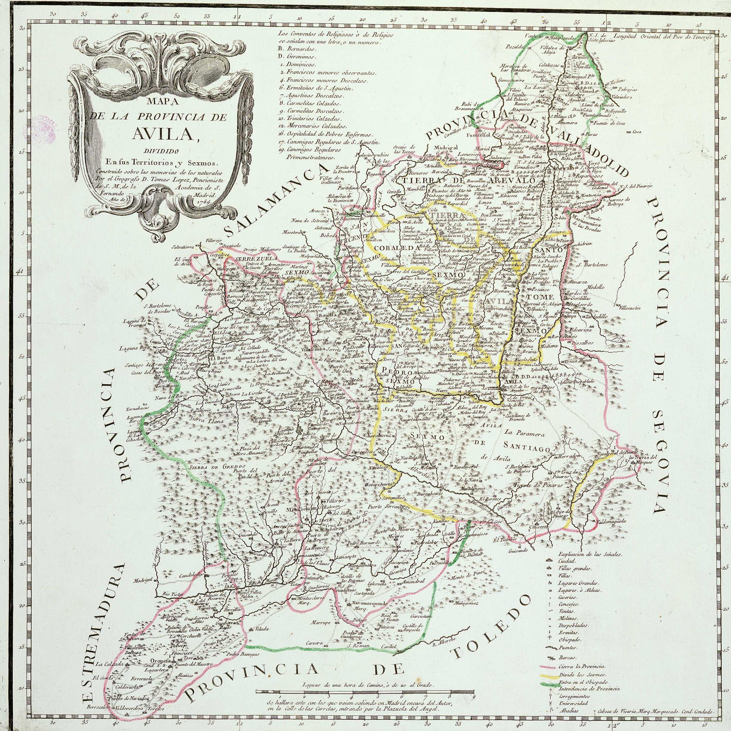 File Mapa De Avila En 1769 Jpg Wikimedia Commons