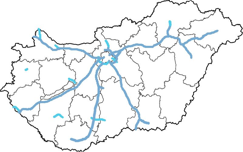 magyarország autópálya térkép 2013 File:Magyar autópályák térképe.png   Wikimedia Commons magyarország autópálya térkép 2013