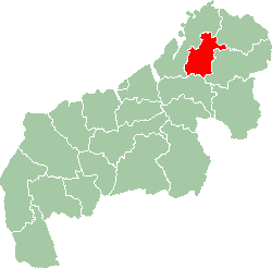 Map of former Mahajanga Province showing the location of Antsohihy district.