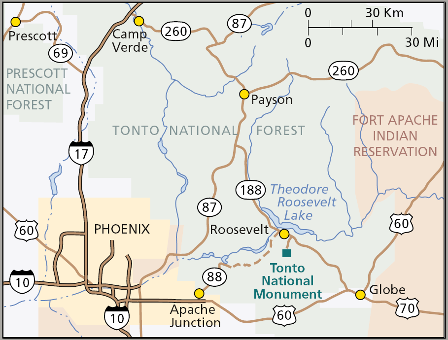 File Map Of Tonto National Monument Png Wikimedia Commons
