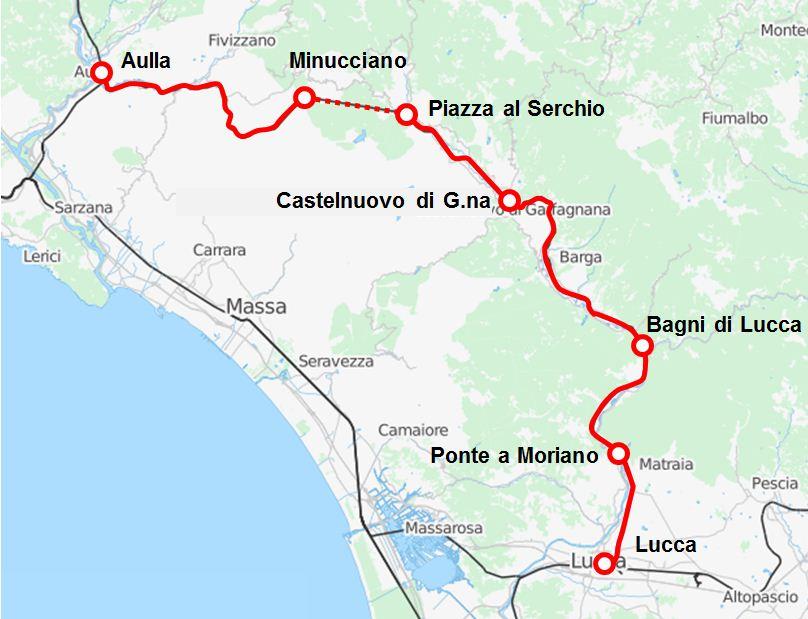 Cartina Italia Lucca.Ferrovia Lucca Aulla Wikipedia