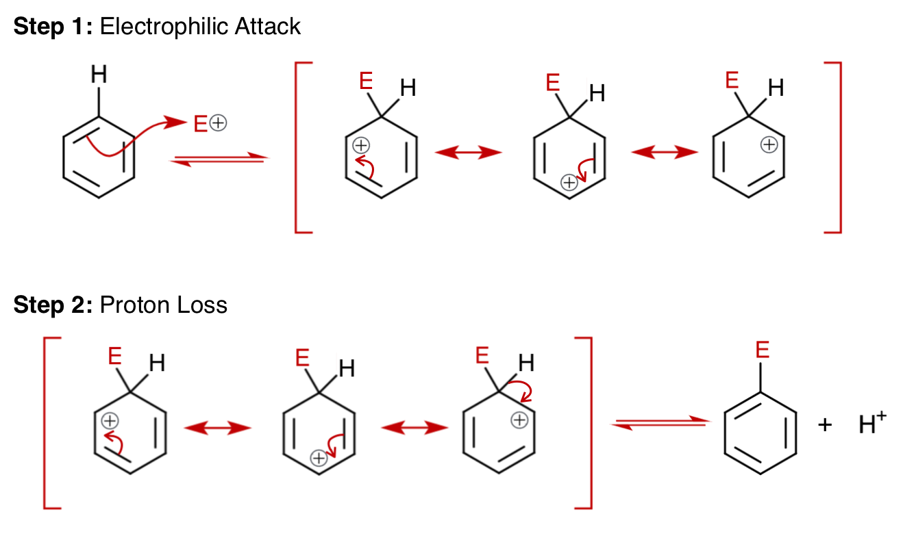 File Mechanism Of Electrophilic Aromatic Substitution Png