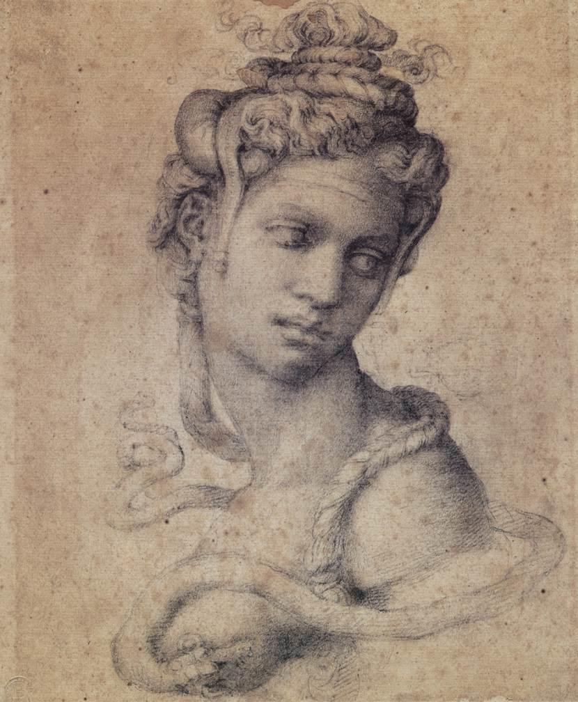 Cleopatra by Michelangelo between 1533-1534
