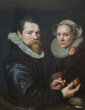 Double Portrait of a Husband and Wife with Tulip  Bulb  and Shells jpgPortrait Of A Husband And Wife