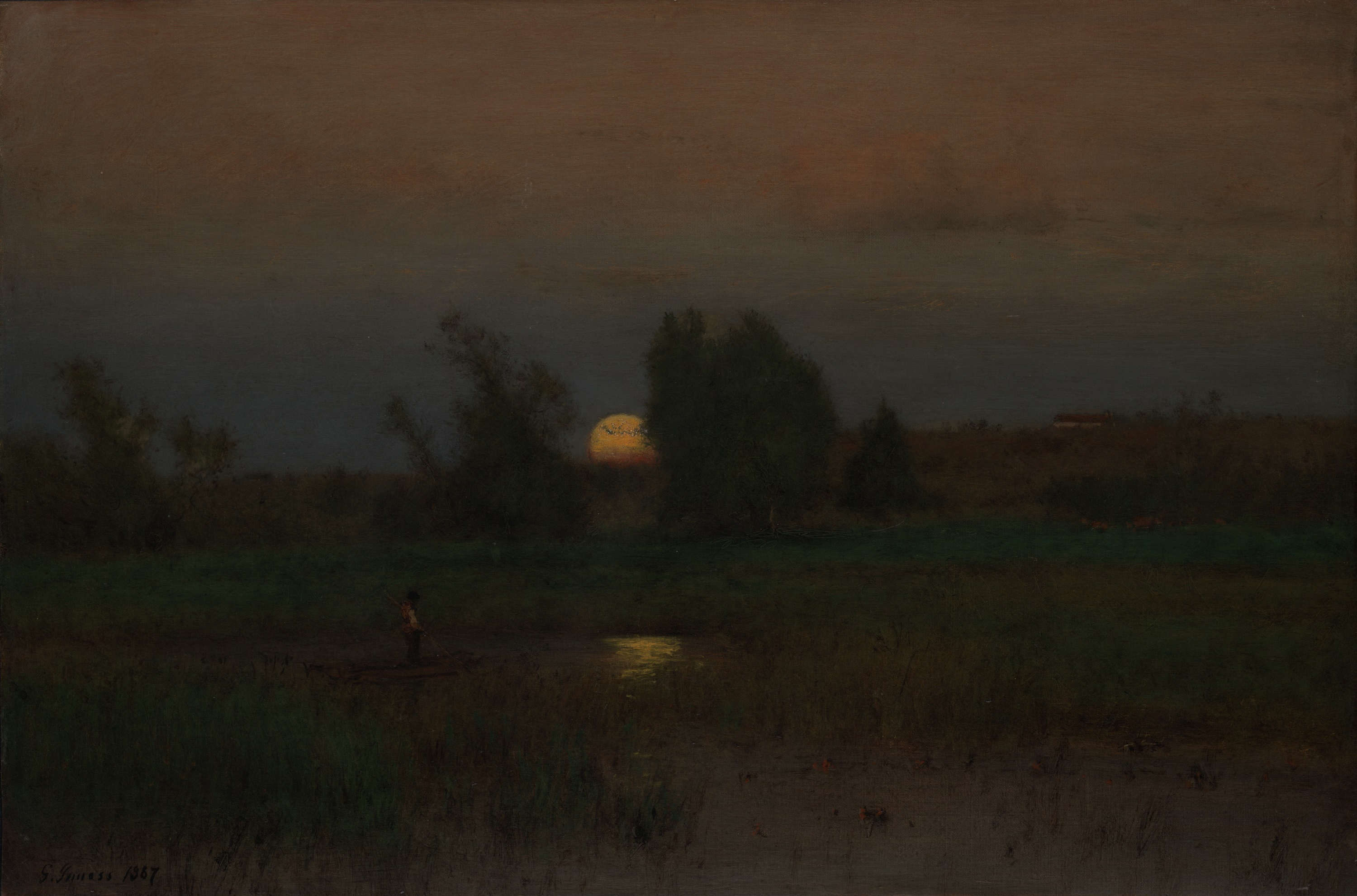 Moon Rise Chart: Moonrise by George Inness 1887.jpeg - Wikimedia Commons,Chart