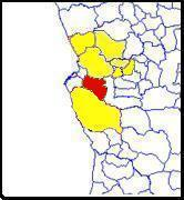 Ícolo e Bengo (red) in Bengo province (yellow)